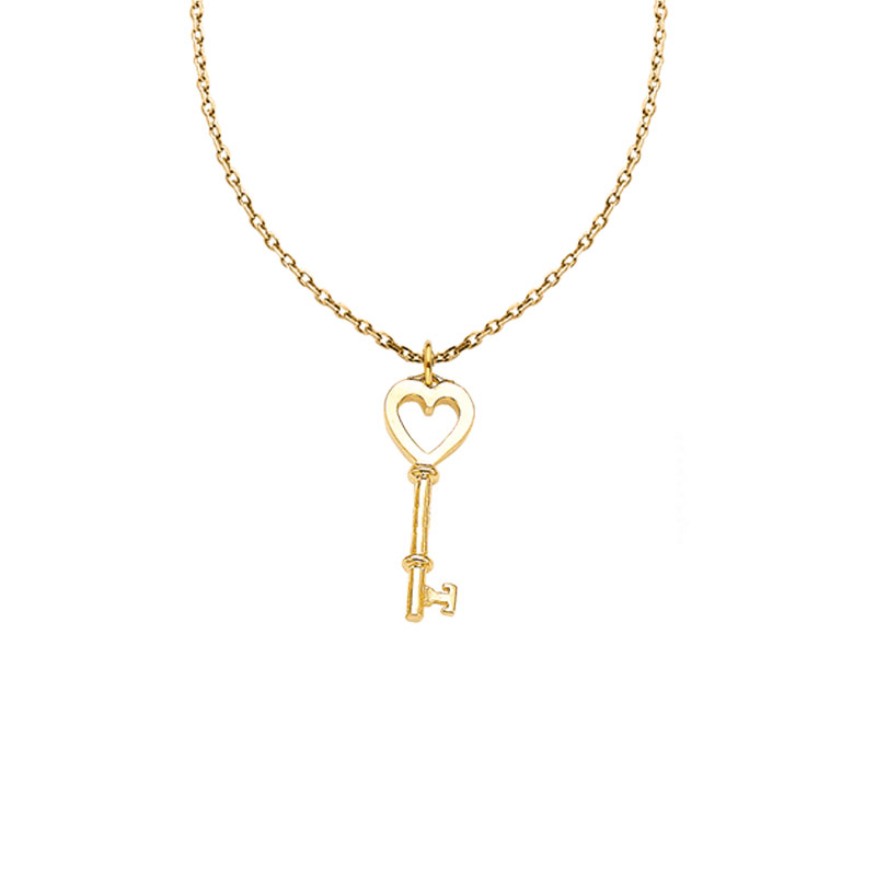 [Cita Collection]Heart-Key + CHAIN NECKLACE